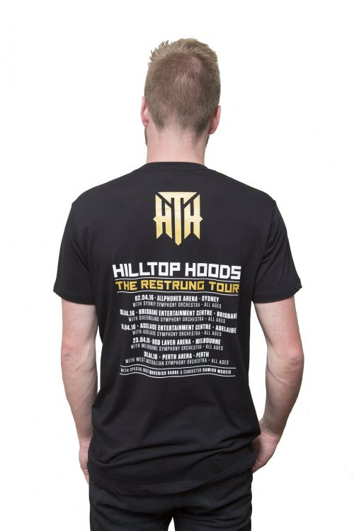 Album Black Tshirt by Hilltop Hoods