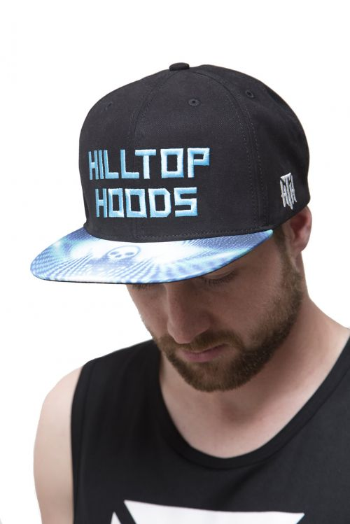 Snapback Embroided Blue/Black by Hilltop Hoods