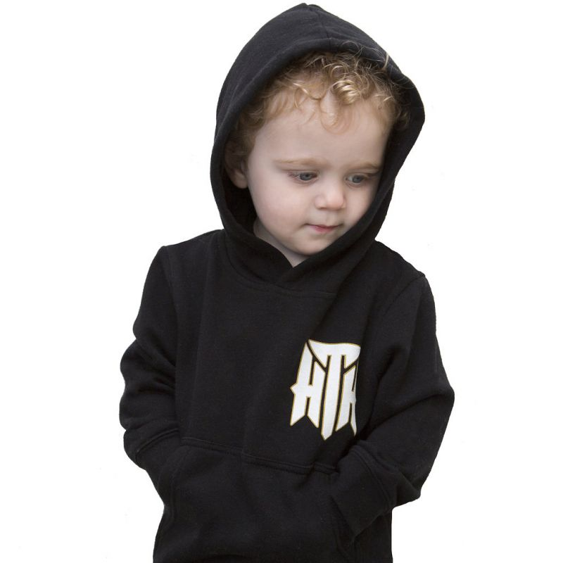 Block Text Kids Black Hoodie
